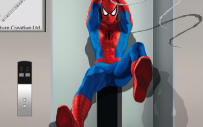 Pókember a liftaknában?